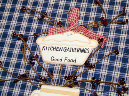 """Rustic Country Wood and Pip Plaque /""""Kitchen Gatherings/"""" Inspirational home decor"""