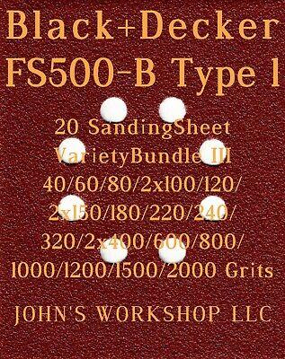 17 Different Grits 20 Sheet Variety Bundle III Black+Decker KA170GT
