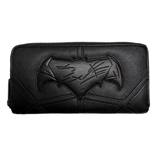 Loungefly DC Justice League Batman Black Zip Around Wallet NEW Women Carrier