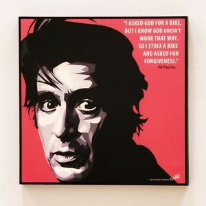 Al Pacino Canvas Quotes Wall Decals Photo Painting Framed Pop Art