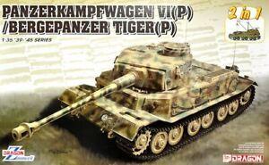 Dragon 1/35 Panzerkampfwagen Vi (p) / Tigre Bergepanzer (2 en 1) # 6869