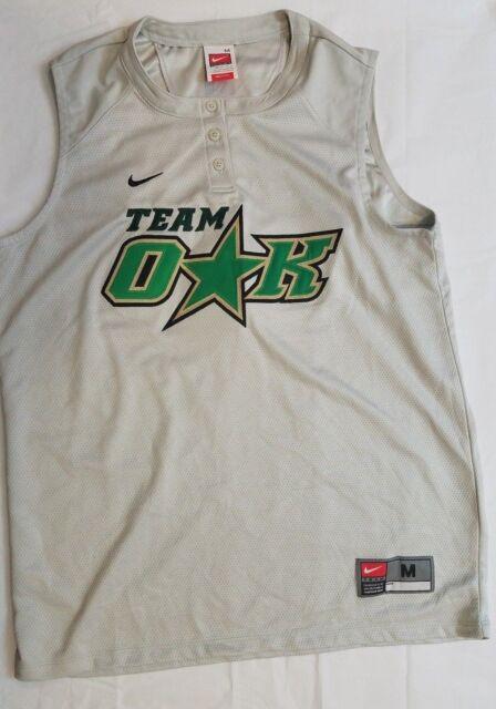 Nike Fit Dry Womens Softball Jersey Team Oak Size Medium Silver Sleeveless #37