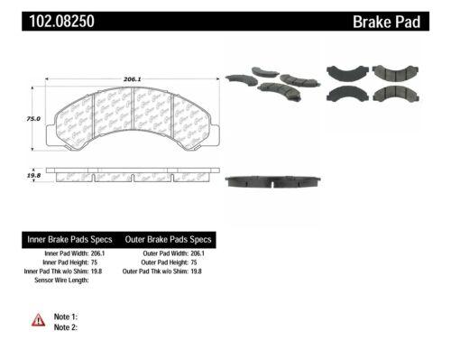 Disc Brake Pad Set-C-TEK Metallic Brake Pads Front Centric 102.08250