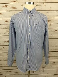 American Eagle Outfitters Mens Dress Shirt Athletic Fit Blue Wht