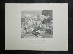 1800s-Engraving-Etching-The-Battle-of-the-Pictures-by-William-Hogarth
