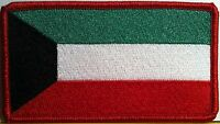 Kuwait Flag Military Patch With Velcro® Brand Fastener Red Border 12