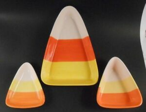 Candy-Corn-Shaped-Set-of-3-Candy-Decorating-Dishes-Fall-Halloween-Decor