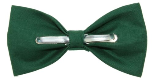 New Kelly Green Clip-On Cotton Bow Tie Choose Men/'s or Boys Bowtie
