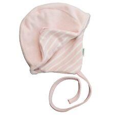 Cuffia foderata in ciniglia  per neonato rosa GOTS 50/56  IOBIO Popolini