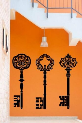Stunning ornamental decor beautiful detailing Keys vinyl wall stickers transfers