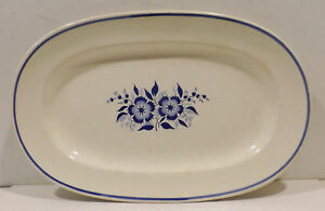 Wachtersbach-Serving-Bowl-Plate-Platter-8816-0-With-Blue-Floral-Decoration-13