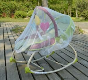 White-Mosquito-Bugs-Net-Mesh-Cover-for-Baby-Graco-Infant-Rockers-Bouncers-Swings