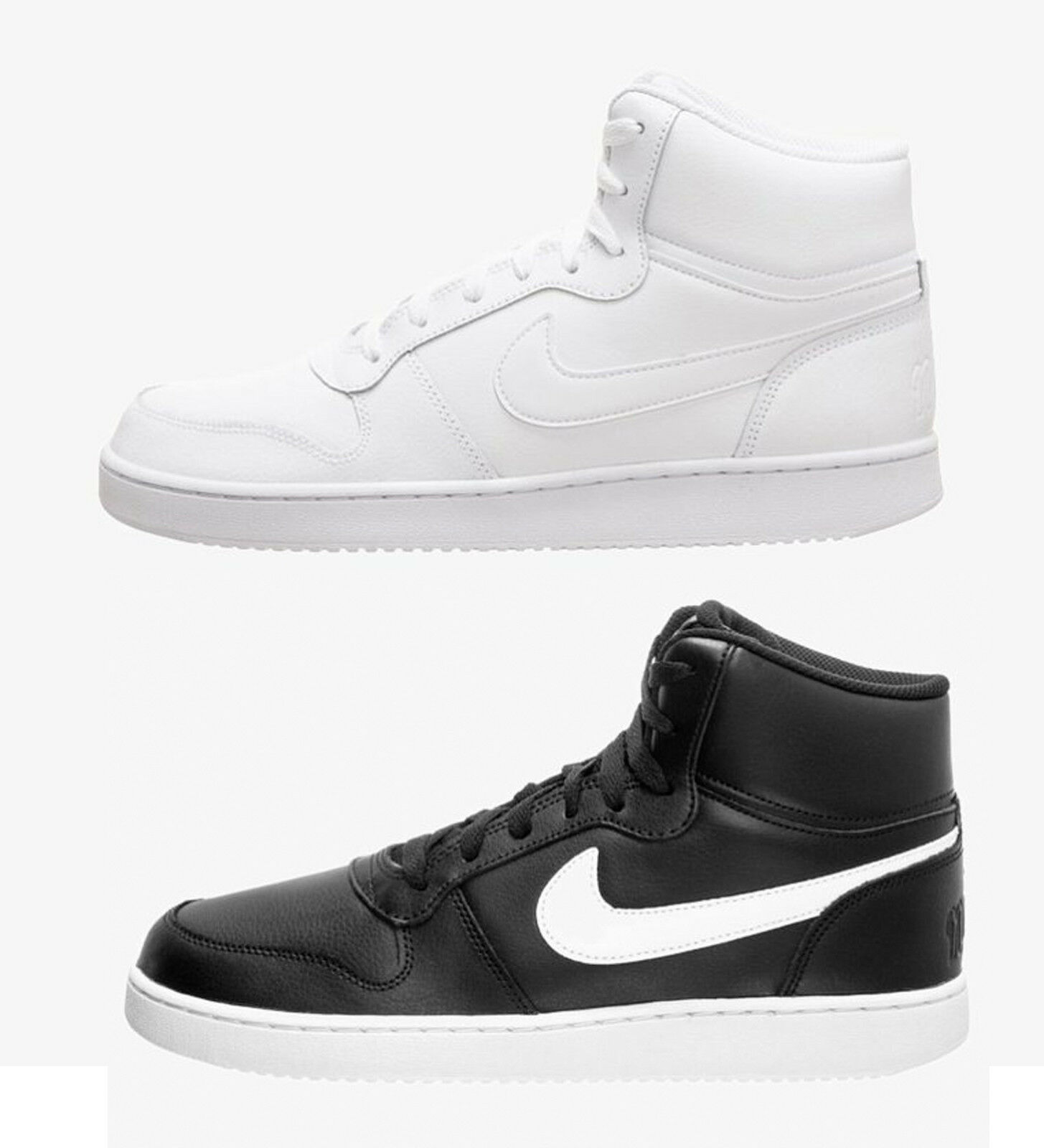 Nike Ebernon Mid AQ1773 Col. Bianco negro zapatillas hombres ispirate AIR FORCE ONE