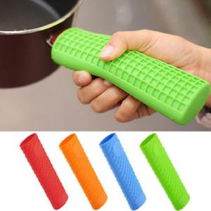 Silicone Pot Pan Handle Saucepan Holder Sleeve Slip Cover Grip Kitchen G