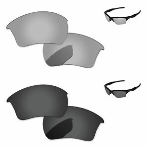 Black-amp-Silver-Chrome-Polarized-Replacement-Lenses-For-Oakley-Half-Jacket-2-0-XL