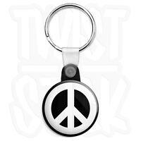 CND Logo - Peace Sign - 25mm Love Symbol Keyring Button Badge, Zip Pull Option