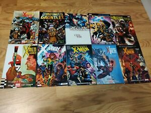 MARVEL LOT Uncanny X-Men Disassembled Infinity gauntlet Graphic Novel Comic Book