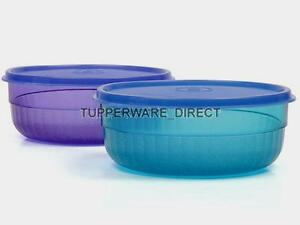Tupperware-Deluxe-Bowl-Emerald-amp-Purple-Set-of-2-Free-Shipping