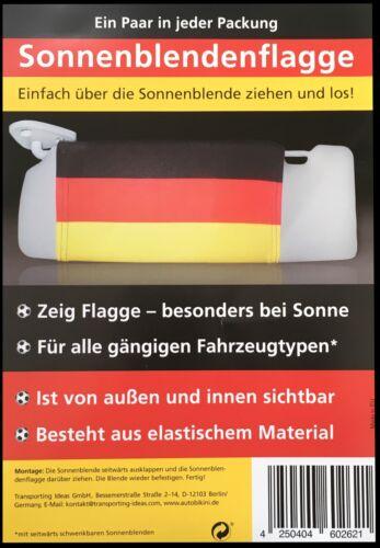 2er Set Sun Visors Flag Germany EM 2020 Football Championship