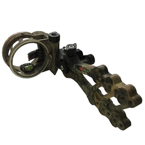 @NEW@ TruGlo Hyper-Strike Realtree Xtra 5pin Fiber Optic Bow Sight  TG5405J