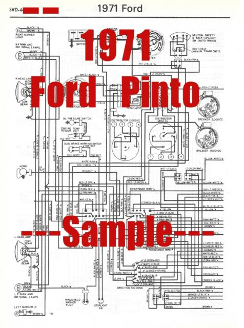 1971 Ford Pinto Full Car Wiring Diagram  High Quality