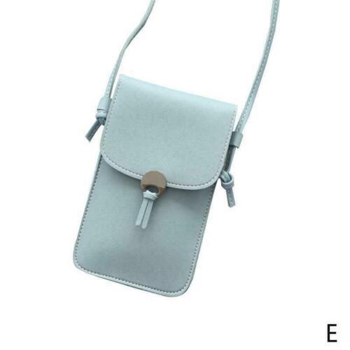 Frauen stilvolle Cross-Body-Umhängetasche PU Leder Geschenk Handy G9O3