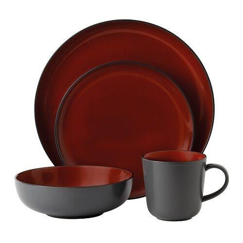 sc 1 st  eBay & Gordon Ramsay by Royal Doulton Bread Street Dark Red 16 Piece Set | eBay