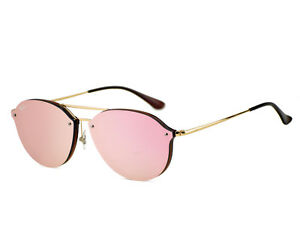 cdbfe2e840 Ray-Ban RB4292N Blaze Double Bridge 6327 E4 Brown Gold Frame Pink ...