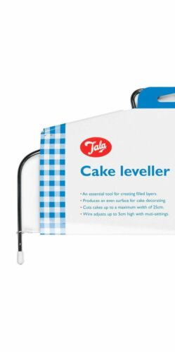 Nouveau Gâteau Niveleur Réglable 25cms fil à couper niveau Couches Gâteaux TALA 9744