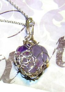 EXQUISITE-HAND-CRAFTED-SILVER-WIRE-WRAPPED-AMETHYST-HEART-PENDANT-1-3-8-INCHES