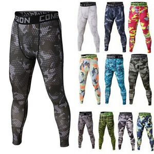 Mens-Sports-Athletic-Tights-Gym-Compression-Pants-Gym-Jogging-Running-Trousers