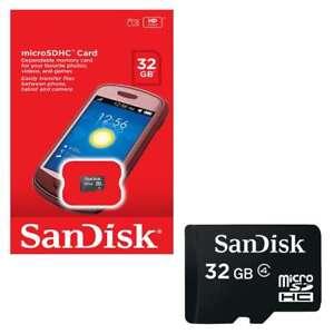 Sandisk-32-GB-micro-sd-Scheda-di-memoria-SDHC-per-cellulari-e-tablet-macchine-fotografiche