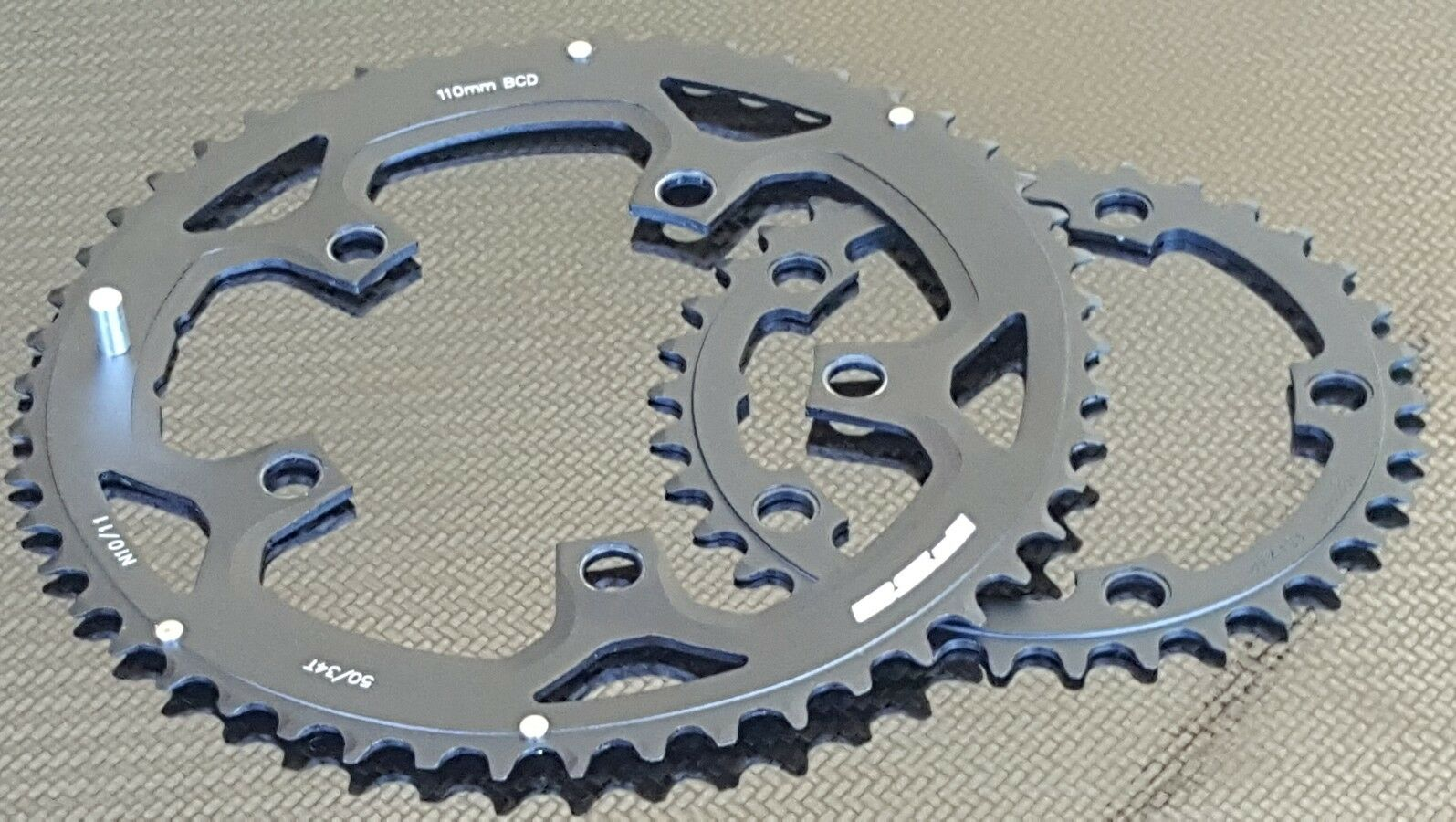 2x Pro Platos Fsa (34 + 50 T) 10 11s Compacto Anillos de Cadena de Bicicleta de carretera (nuevo)