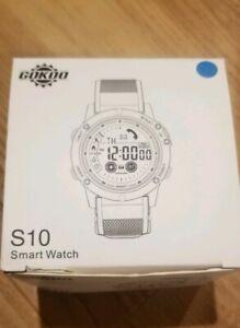 GOKOO-S10-Digital-Outdoor-Sport-Smartwatch-Blue-Band-NEW-Open-Box-No-Charging