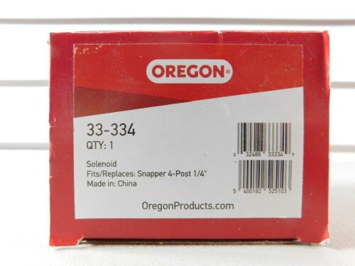 """Post 1//4/"""" New in Box Details about  /OEM Genuine Oregon # 33-334 Solenoid Lawn Mower Snapper 4"""
