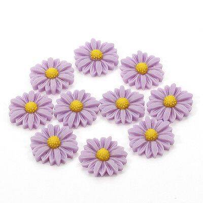 10pcs 21mm Daisy Resin Flatback Cabochon ScrapbookIng for phone/craft  new sr11