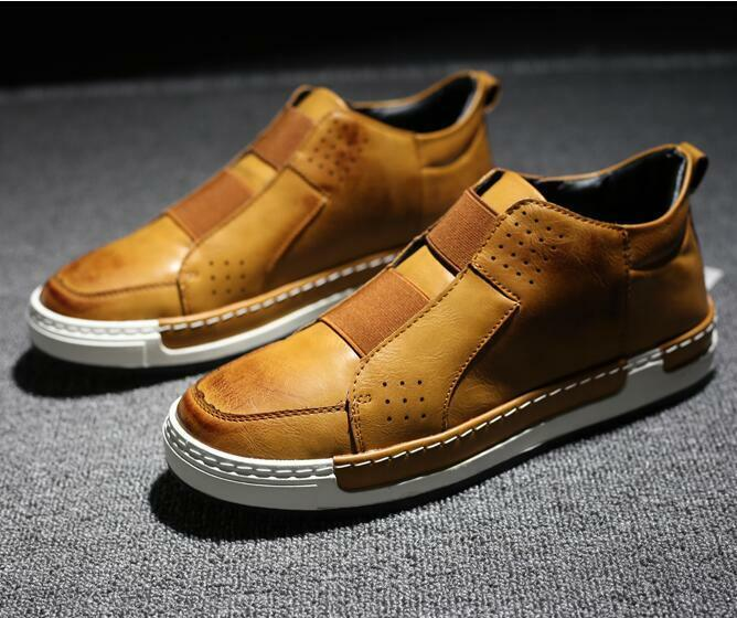 Fashion Men's Casual Leather Oxfords High Top Athletics Sneakers Board shoes HOT