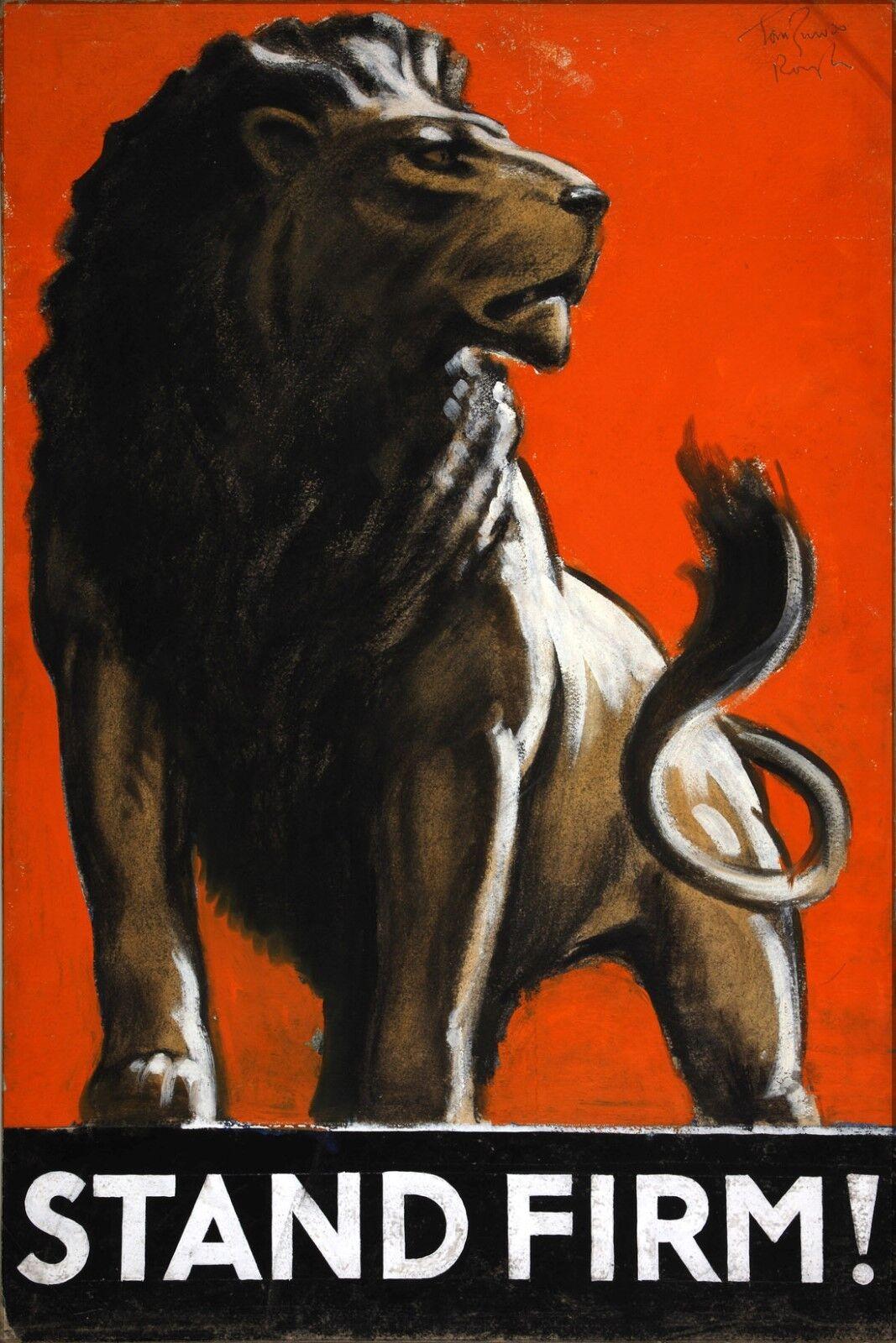Affiche,Plusieurs Tailles; Effort Inf3 128 War Effort Tailles; Plate-Forme Ferme Lion Artiste aa8fc4