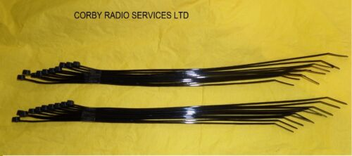 20 BLACK TIES 300mm X 4.8mm XTRA LONG TAXIS CAR WHEEL TRIMS ELECTRICAL CABLE