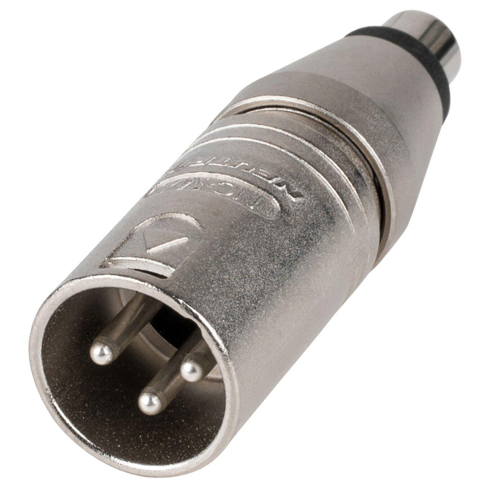 Neutrik 3 Pin Male XLR to Female RCA 1:1 Impedance Matcher NA2MPMF