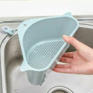 Kitchen Filter Triangular Sink Drain Shelf Hanging Basket Triangular Rack USA