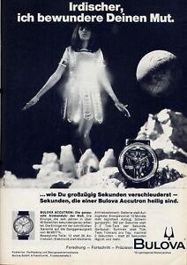 """""""bulova""""- Accutron""""- Genaueste Armbanduhr Der Welt,original Reklame Anzeige 1968"""