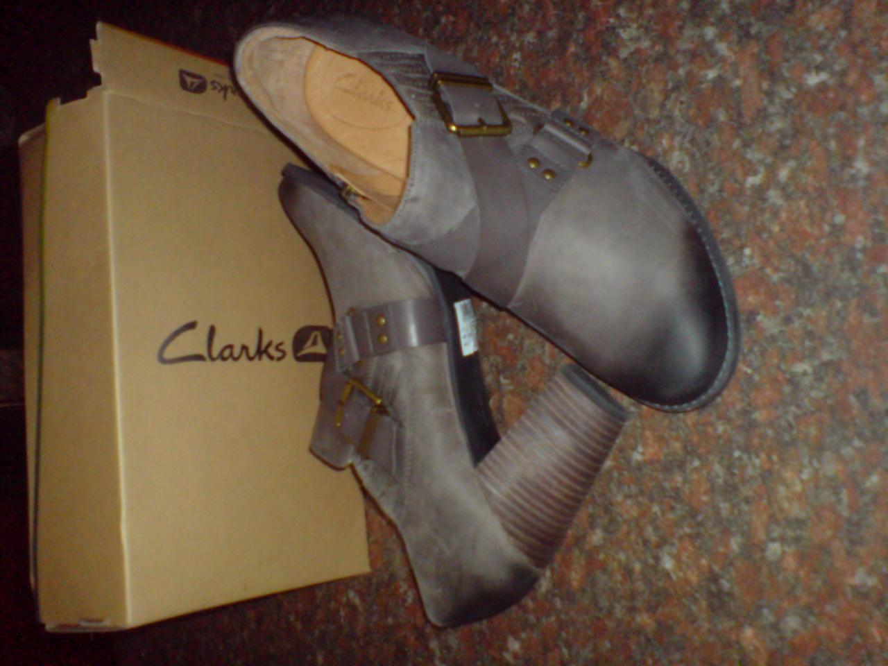 Clarks Damen heide-heidelerche Smart grau Leder Absatz UK UK UK 8 a671a1