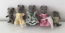 Vintage Sylvanian Families Grey Mice Thistlethorn Family
