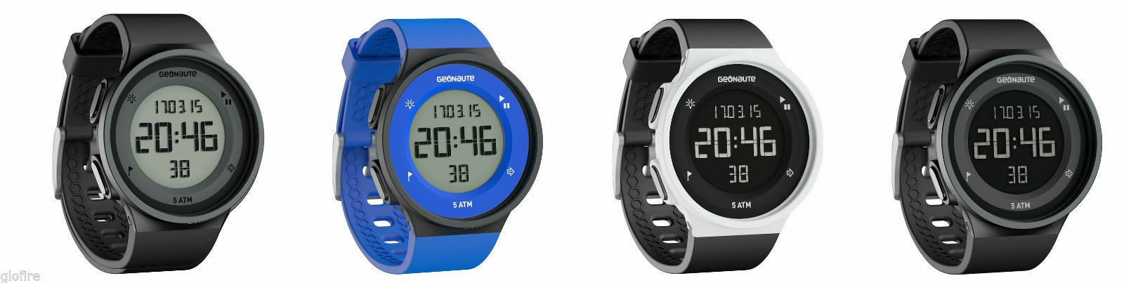 SPORTS TRAINING WATCH SWIMMING WATERPROOF LARGE DIGITS EASY REMOVABLE STRAP