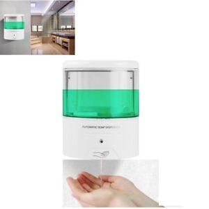 Liquid Soap Dispensers Bathroom Fixtures Nail Free 600ml Abs Automatic Liquid Soap Dispenser Wall Mounted Smart Sensor Shower Dispenser For Bathroom Washroom