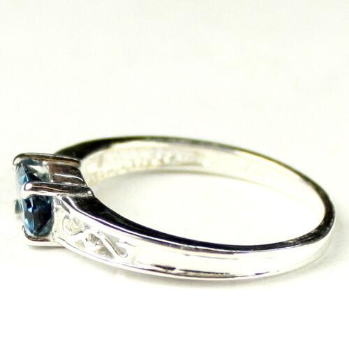 LONDON BLUE TOPAZ Sterling Silver Ladies Ring Handmade • SR362