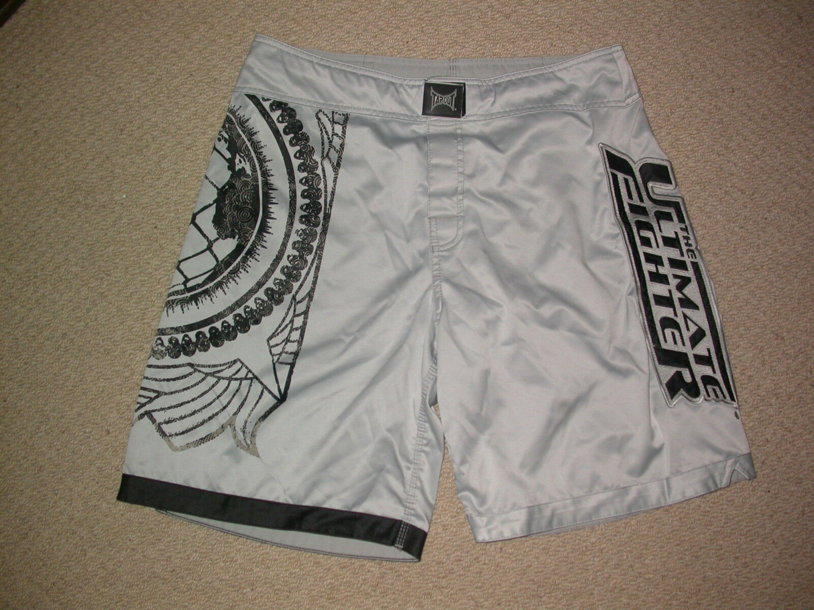 UFC TAPOUT ULTIMATE FIGHTER TEAM RAMPAGE SHORTS 34W LARGE MMA KSW BJJ BOXING GYM