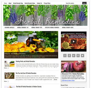 * HERBAL REMEDIES * blog niche website business for sale AUTO UPDATING CONTENT!
