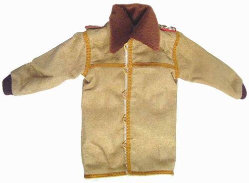 INPT 1//6 Toy WWII German generals suede coat brown fur collar shoulder boards